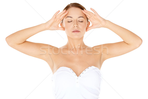 Woman meditating Stock photo © dash