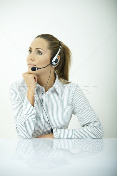 Diariamente negócio belo mulher de negócios escritório telefone Foto stock © dash