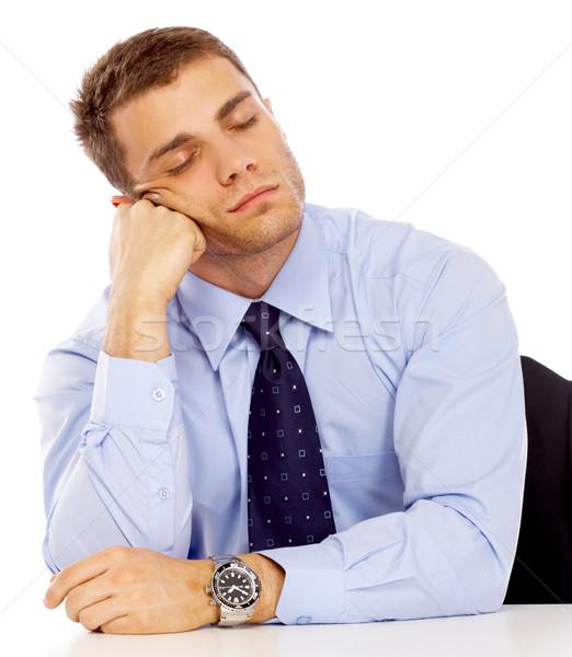 Portré üzletember üzletember izolált fehér iroda Stock fotó © dash