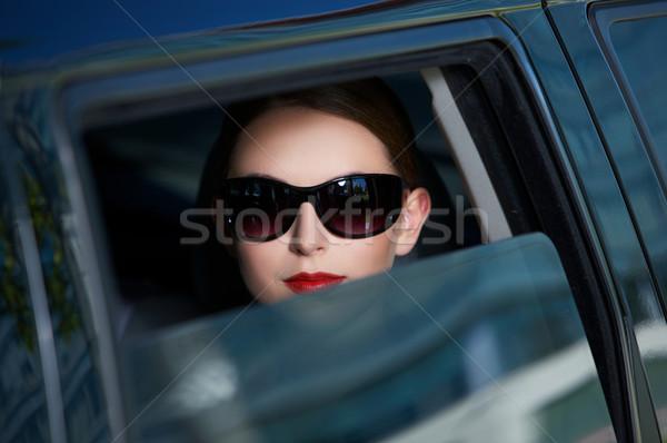 Business portret mooie zakenvrouw binnenkant hand Stockfoto © dash