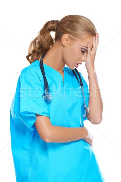 Médico cabeça angústia atraente jovem Foto stock © dash