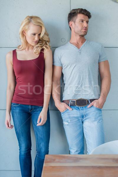 средний возраст кавказский пару моде изолированный Сток-фото © dash