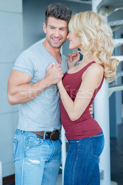 Middle Age Pretty and Handsome Lovers So Sweet Stock photo © dash