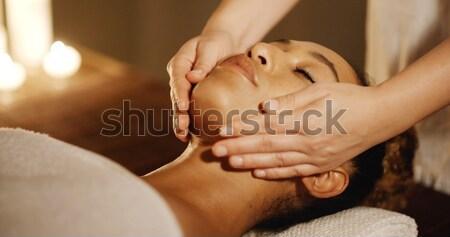 Spa салона расслабляющая женщину Сток-фото © dash