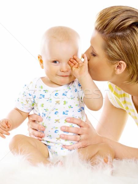 Сток-фото: матери · сын · молодые · привлекательный · целоваться · Cute