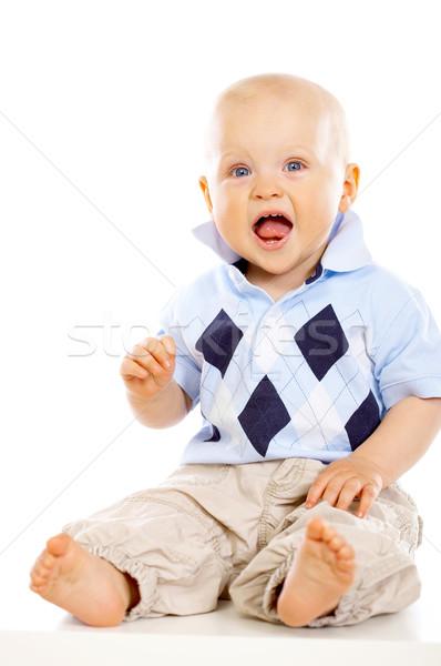 Baby chłopca portret słodkie mały biały Zdjęcia stock © dash