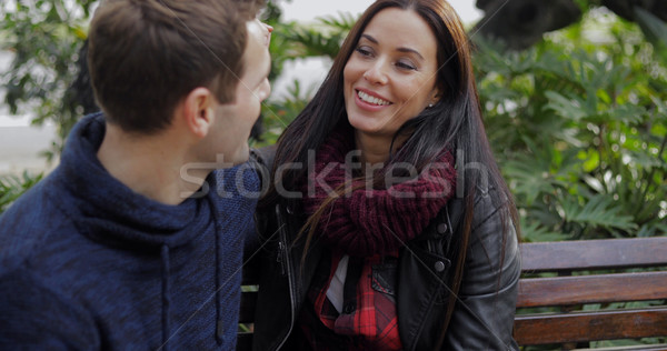 Middle aged attractive couple in park Stock photo © dash