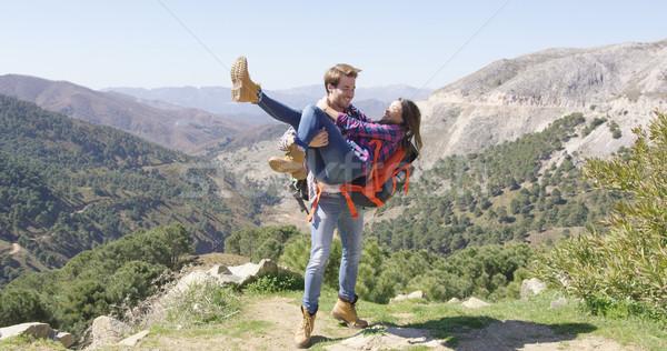 Romantic couple having fun in nature Stock photo © dash