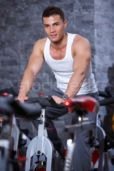 Man at the gym Stock photo © dash