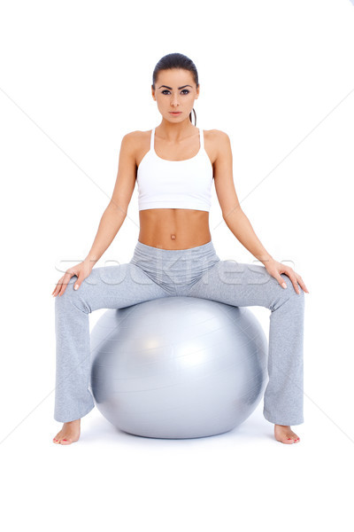 Brunette shapely woman resting Stock photo © dash