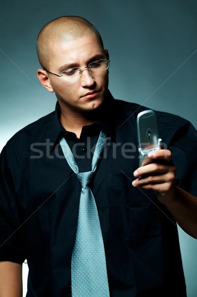 Empresário celular negócio trabalhar terno trabalhador Foto stock © dash