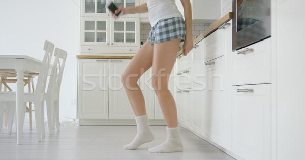 Termény kilátás tánc lány lövés nő Stock fotó © dash