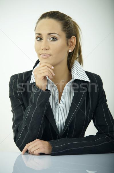 Diario negocios hermosa mujer de negocios oficina luz Foto stock © dash