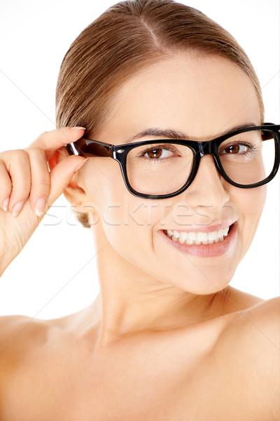 Beautiful woman wearing glasses Stock photo © dash