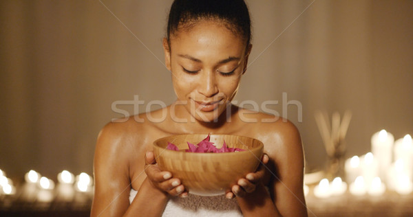Young Woman And Aromatherapy Stock photo © dash