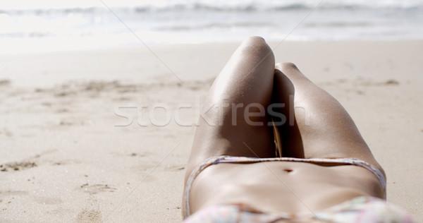 Beautiful Female Body On The Beach Stock photo © dash