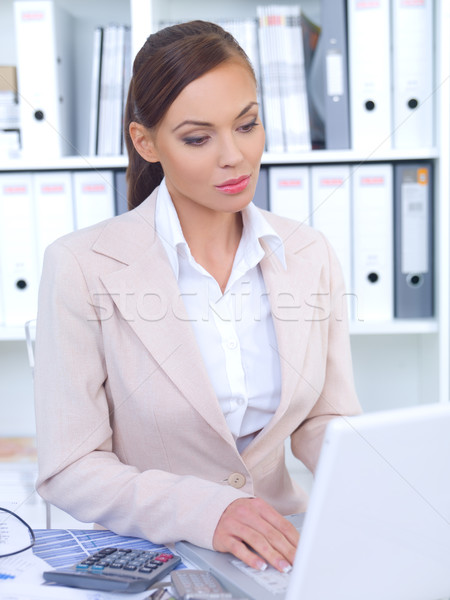 Business Woman in Office Stock photo © dash