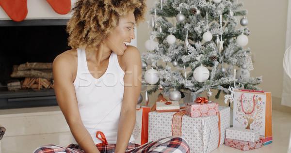 Young woman enjoying Christmas Stock photo © dash