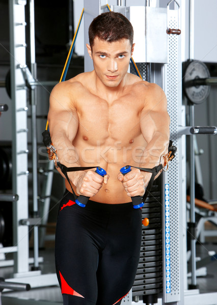 Man at the gym Stock photo © dash