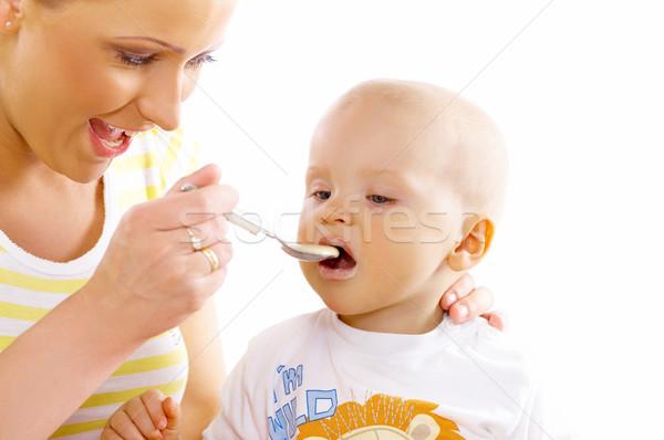 Stock foto: Mutter · Sohn · jungen · anziehend · cute · wenig