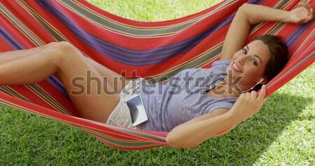 Hamaca bikini superior blanco Foto stock © dash