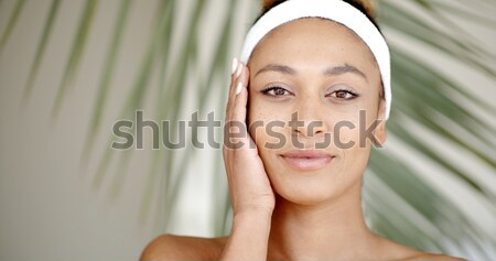 Woman Who Takes Care Of Her Face. Stock photo © dash