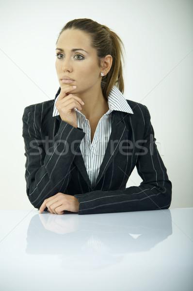 日々 ビジネス 美しい ビジネス女性 オフィス 光 ストックフォト © dash