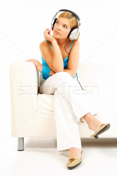 Listening music Stock photo © dash
