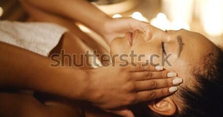 Terapi genç bulanık kadın sağlık Stok fotoğraf © dash