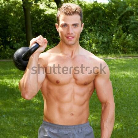 Close up of muscular build man Stock photo © dash