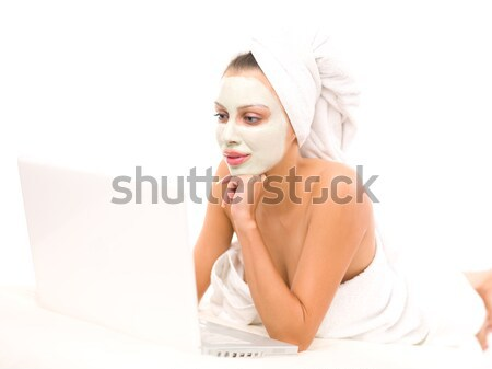 Schoonheid bad portret vers mooie brunette Stockfoto © dash