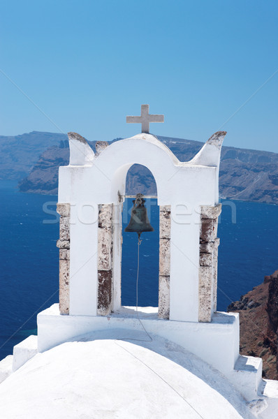 サントリーニ 素晴らしい 表示 市 建物 ギリシャ ストックフォト © dash