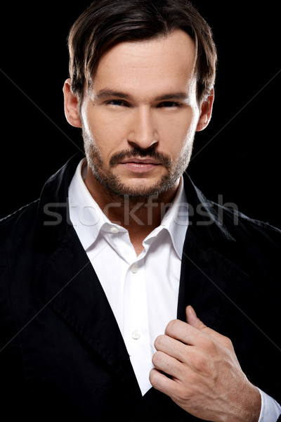 Handsome sexy suave young man Stock photo © dash