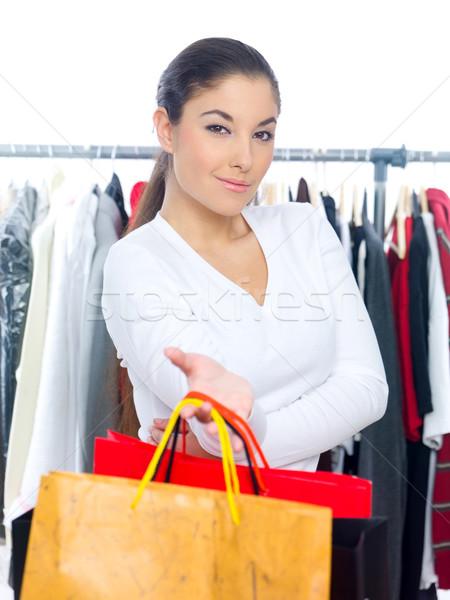 Mujer bonita compras departamento tienda bastante Foto stock © dash