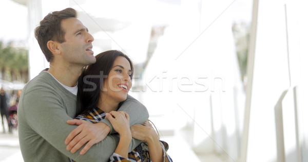 Loving young couple sharing a quiet moment Stock photo © dash