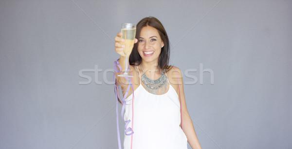 美しい シック 若い女性 白 ストックフォト © dash