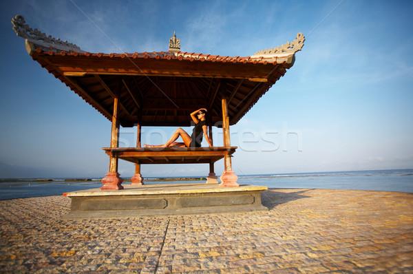 Donna bali anni rilassante Foto d'archivio © dash