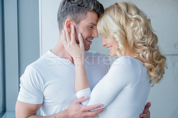 Loving couple enjoy a tender moment Stock photo © dash