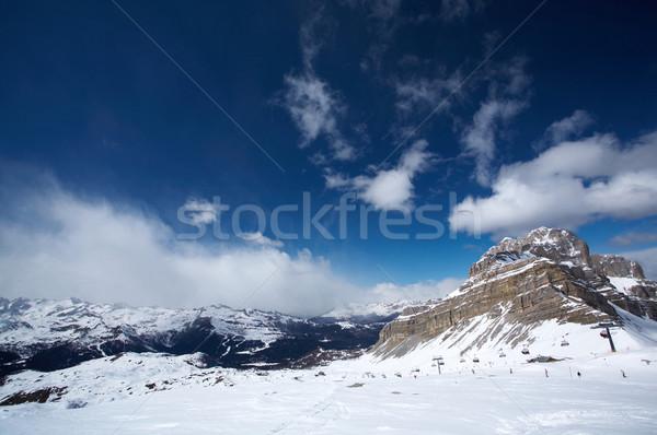 Gyönyörű hegy kilátás olasz hó űr Stock fotó © dash