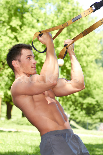 Parc musculaire Homme sport modèle fitness Photo stock © dash