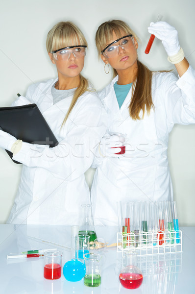 Female in lab Stock photo © dash
