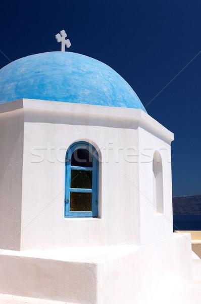 Santorini maravilloso vista ciudad edificios Grecia Foto stock © dash