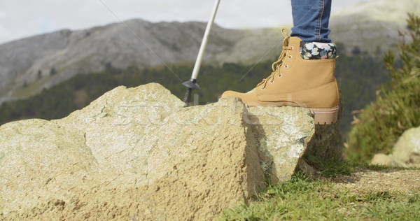 Person in hiking boots at the mountains Stock photo © dash