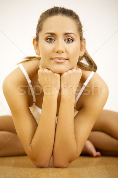 Fitness Zeit jungen schöne Frau Mädchen Stock foto © dash