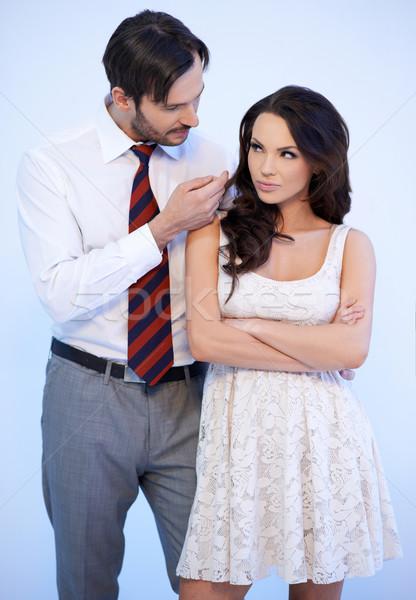 Atraente jovem caucasiano homem tentador mulher Foto stock © dash