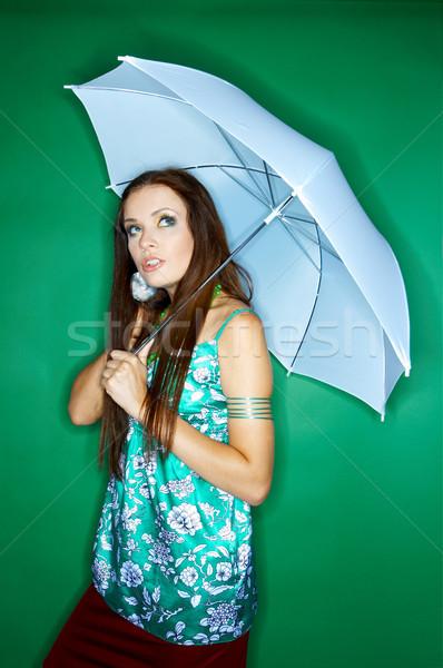 Stok fotoğraf: Kadın · renkler · portre · genç · kadın · yalıtılmış · renk