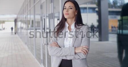 Sophistiqué femme d'affaires promenade belle permanent malaga Photo stock © dash
