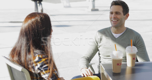 Young couple enjoying takeaway coffee Stock photo © dash