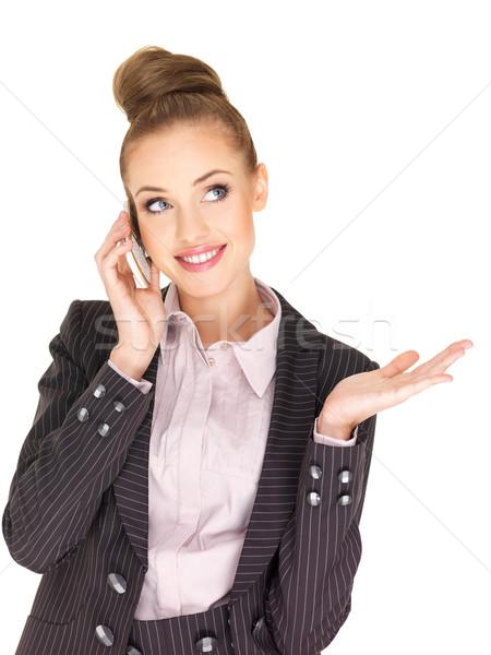 довольно женщины деловая женщина говорить мобильного телефона женщину Сток-фото © dash
