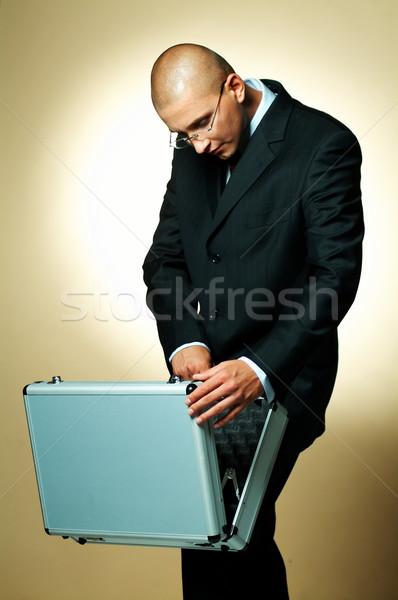 Empresário abrir caso negócio trabalhar Foto stock © dash
